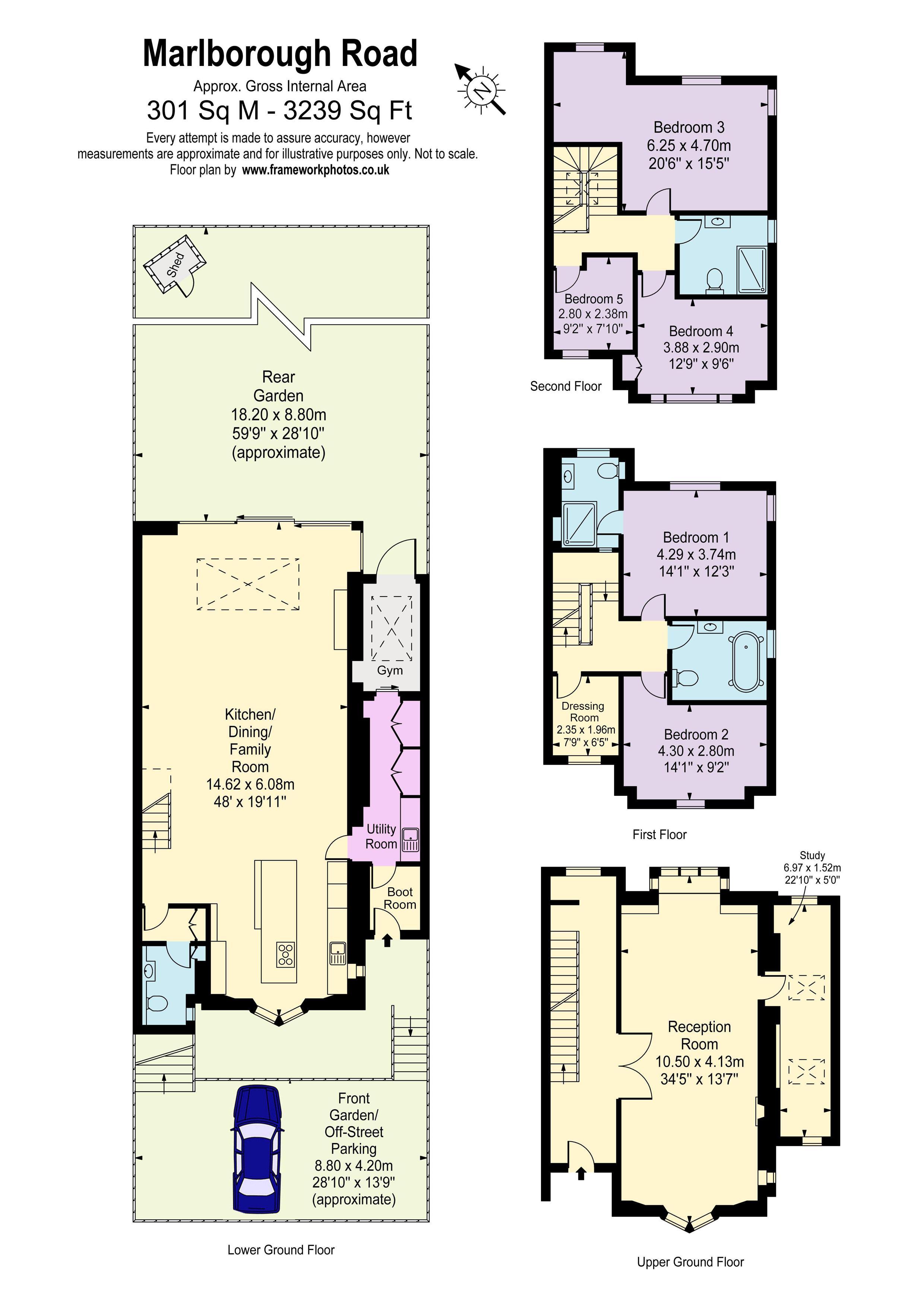 5 Bedroom House The Corporate Letting Company – Marlborough House Floor Plan